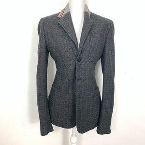 Dolce & Gabbana Wool Blend Sport Coat Blazer Gray